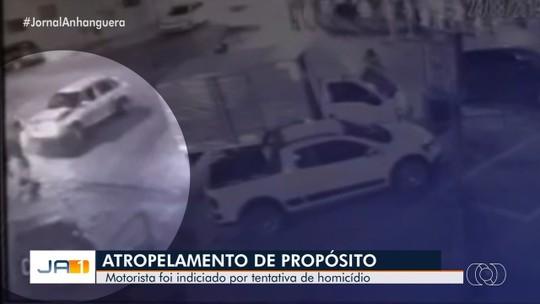 Vídeo aponta que motorista tentou matar casal atropelado em Piracanjuba, diz delegado