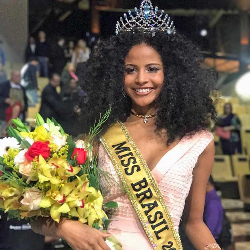 A candidata do estado do Piauí, Monalysa Alcântara, é a Miss Brasil 2017 (Foto: Reprodução / BE Emotion / Facebook)