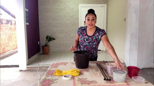 Aprenda também a fazer uma mesinha de cimento!