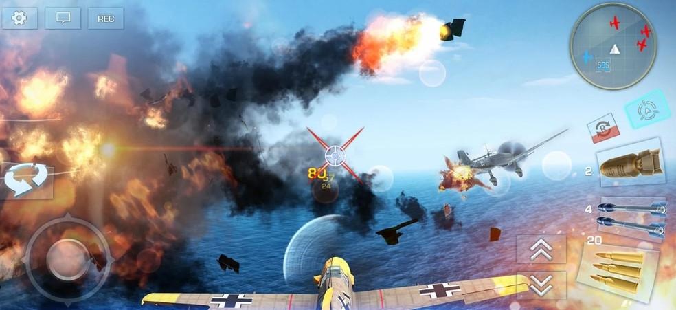 War Wings traz cenário realista na Segunda Guerra Mundial — Foto: Divulgação/Miniclip.com