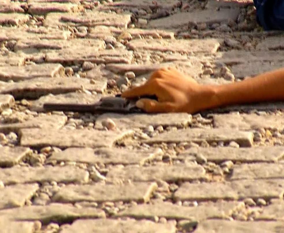 Bandido morreu no local. (Foto: Inter TV Cabugi/Reprodução)