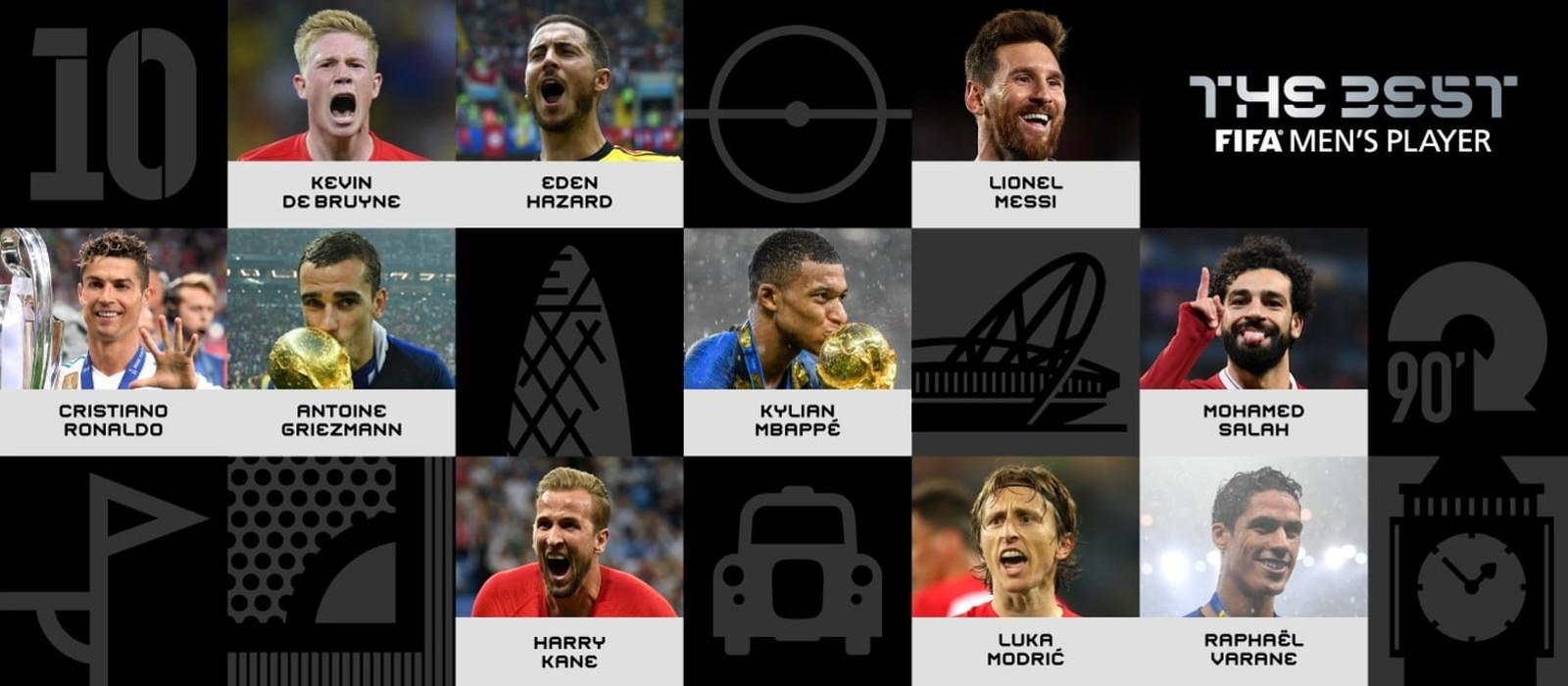 Fifa divulga 10 candidatos ao prêmio de melhor do mundo e deixa Neymar de fora