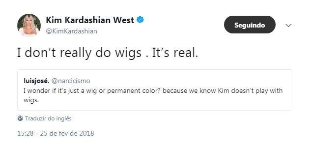 Cabelo Rosa de Kim Kardashian não é peruca, afirma hairstylist (Foto: Reproduçã)