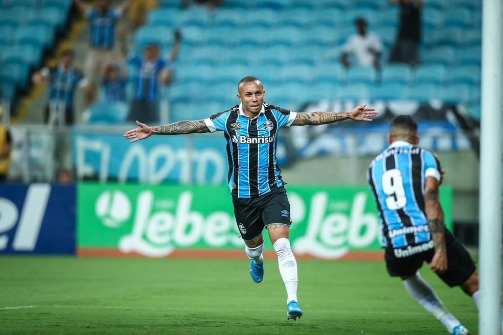 Everton marcou 69 gols pelo Grêmio — Foto: Lucas Uebel/Grêmio