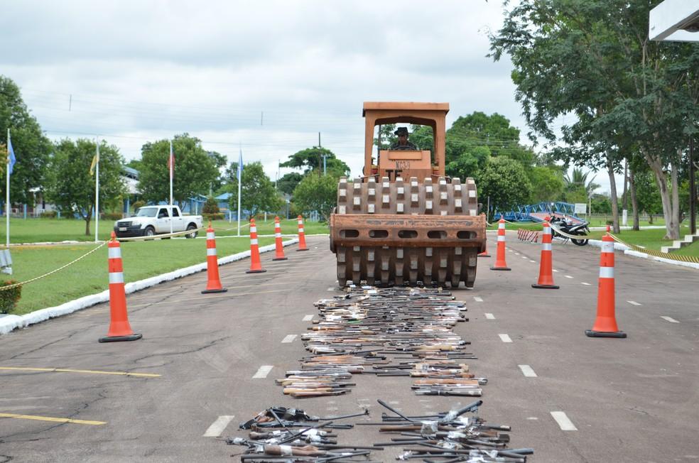 Exército destrói 1.141 armas de fogo entregues à Justiça em Pernambuco