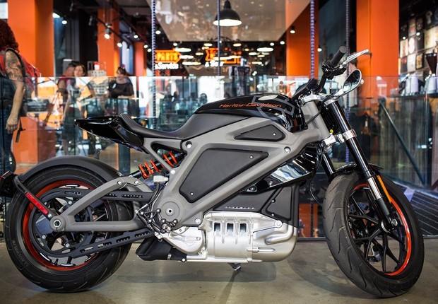 A moto Livewire, primeiro veículo elétrico da Harley Davidson (Foto: Andrew Burton/Getty Images)