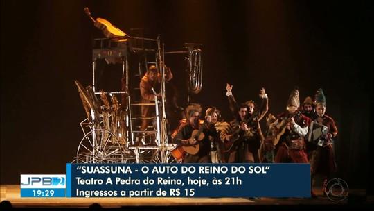 Espetáculo sobre universo afetivo de Ariano Suassuna é encenado neste sábado na Paraíba