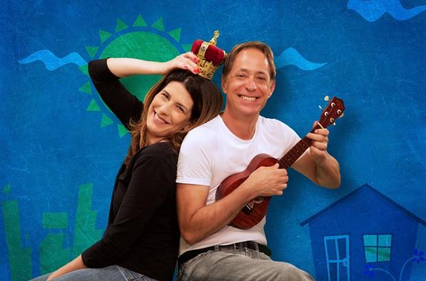 Graziella Moretto e Pedro Cardoso em Nem Sim Nem Não (Foto: Guga Melgar)