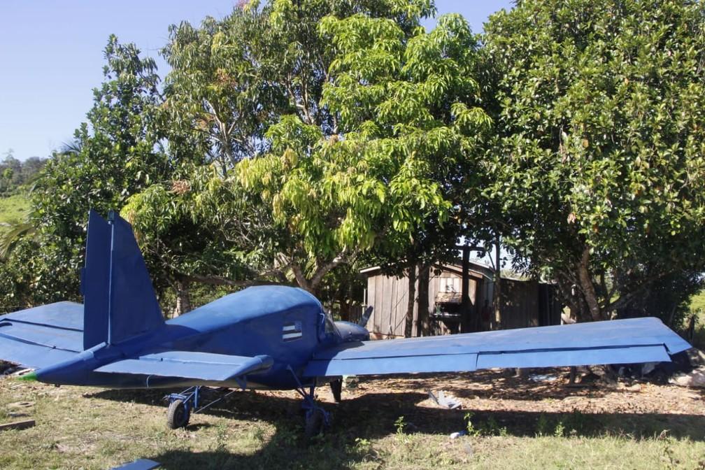 Avião começou a ser construído em 2018 — Foto: Colniza MT Notícia