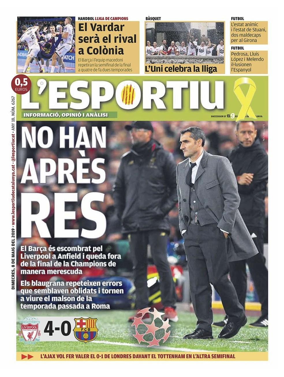 L'Esportiu Liverpool x Barcelona — Foto: Reprodução