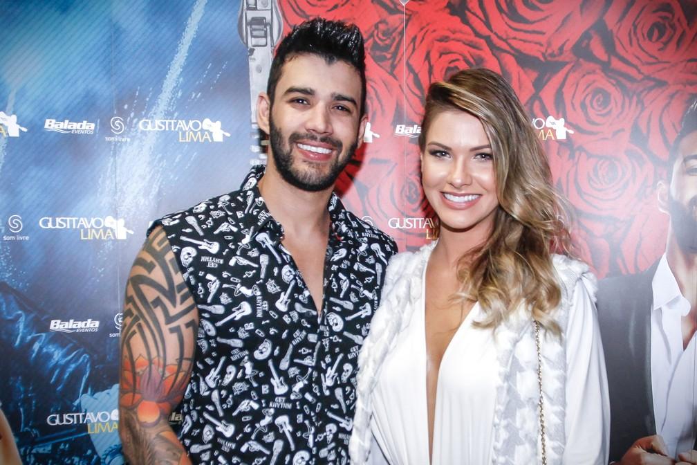 Gusttavo Lima e Andressa Suita, em foto de agosto de 2016 — Foto: Celso Tavares/G1