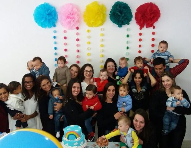 Um dos encontros do grupo de mães de UTI (Foto: Arquivo pessoal)