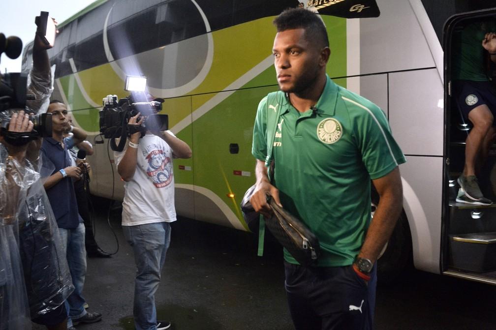 Borja pode voltar ao Palmeiras depois da Copa América — Foto: Marcos Ribolli