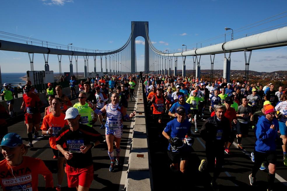 Corridas de longa distância cada vez mais atraem também a participação de atleta acima dos 60 anos (Foto: REUTERS/Brendan McDermid)