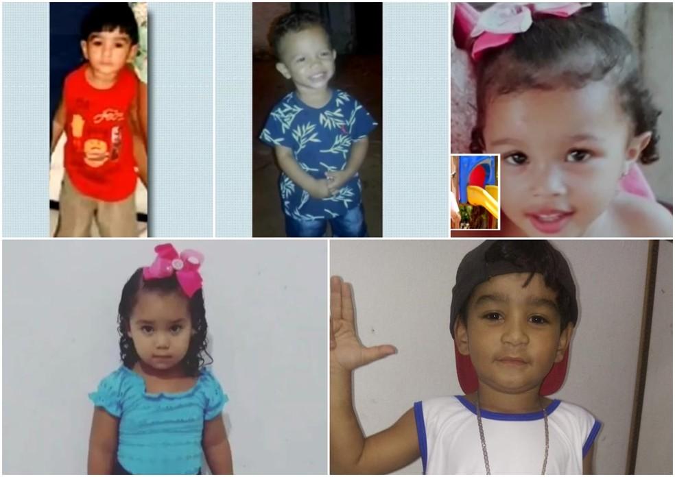 Crianças vítimas da violência no Ceará em 2020; já foram 14 neste ano, até setembro, mais do que nos nove anos anteriores — Foto: TV Verdes Mares/Reprodução