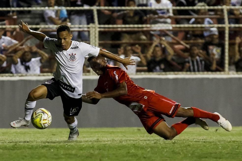 Janderson, atacante do time sub-20 do Corinthians na Copa São Paulo — Foto: Rodrigo Gazzanel/Ag. Corinthians