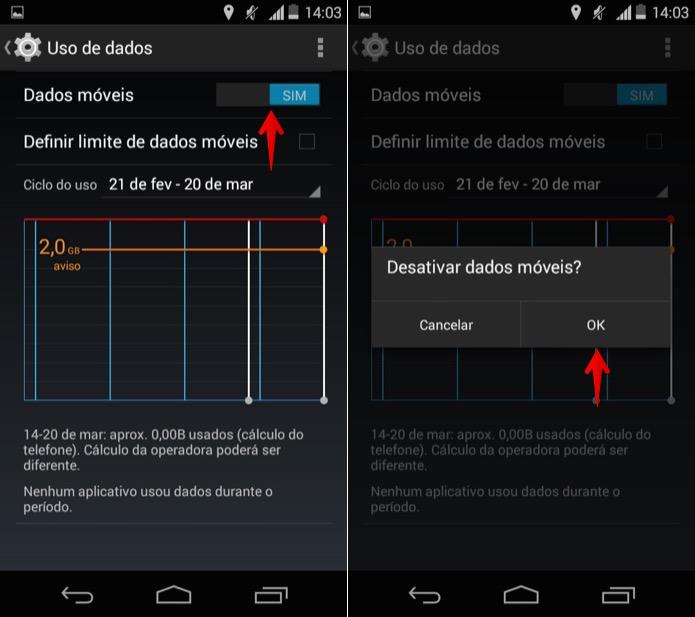 Ativando ou desativando o 3G (Foto: Reprodução/Helito Bijora)