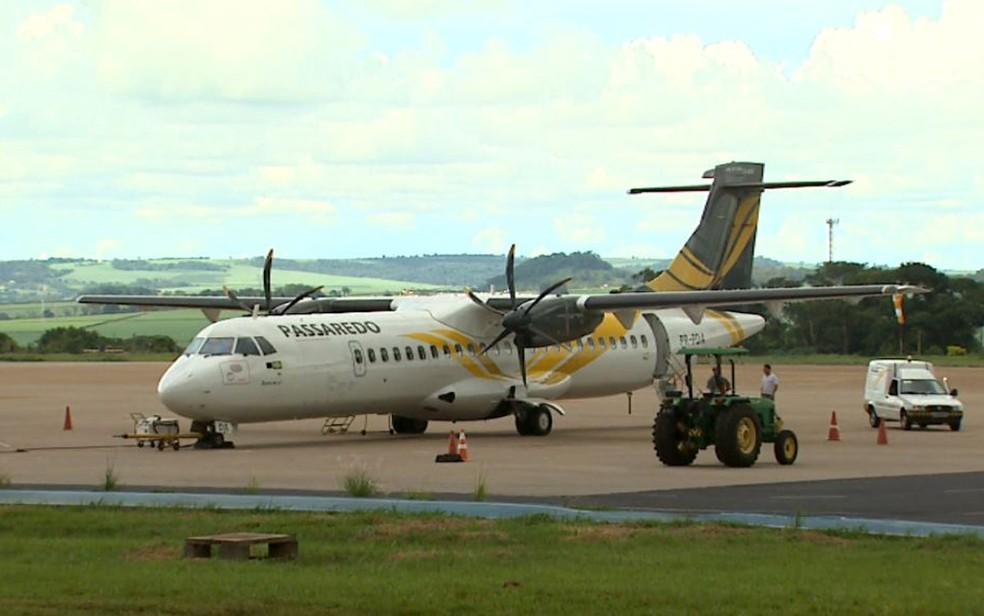 Passaredo Linhas Aéreas manifestou interesse em colocar duas novas linhas em Varginha (MG); aprovação depende da Anac (Foto: Reprodução / EPTV)