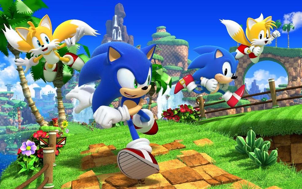 Sonic Generations traz a convergência do passado e futuro com dois protagonistas jogáveis — Foto: Divulgação/SEGA