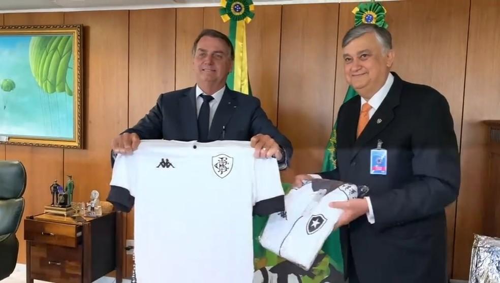 Jair Bolsonaro e Durcesio Mello — Foto: Reprodução