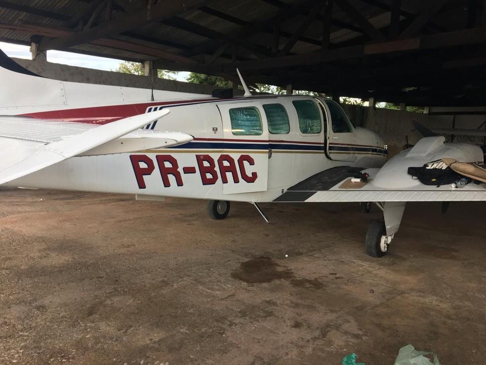 Aviões de pequeno porte foram apreendidos pela Polícia Federal em Itaituba — Foto: Divulgação/ Polícia Federal