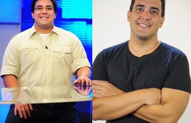 André Marques também recorreu à cirurgia bariátrica no início de 2013 e já perdeu mais de 60kg  (Foto: TV Globo)