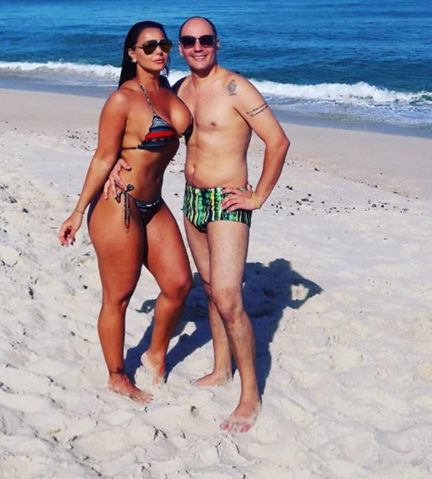 Viviane Araújo e Dalmir Melo (Foto: Reprodução)