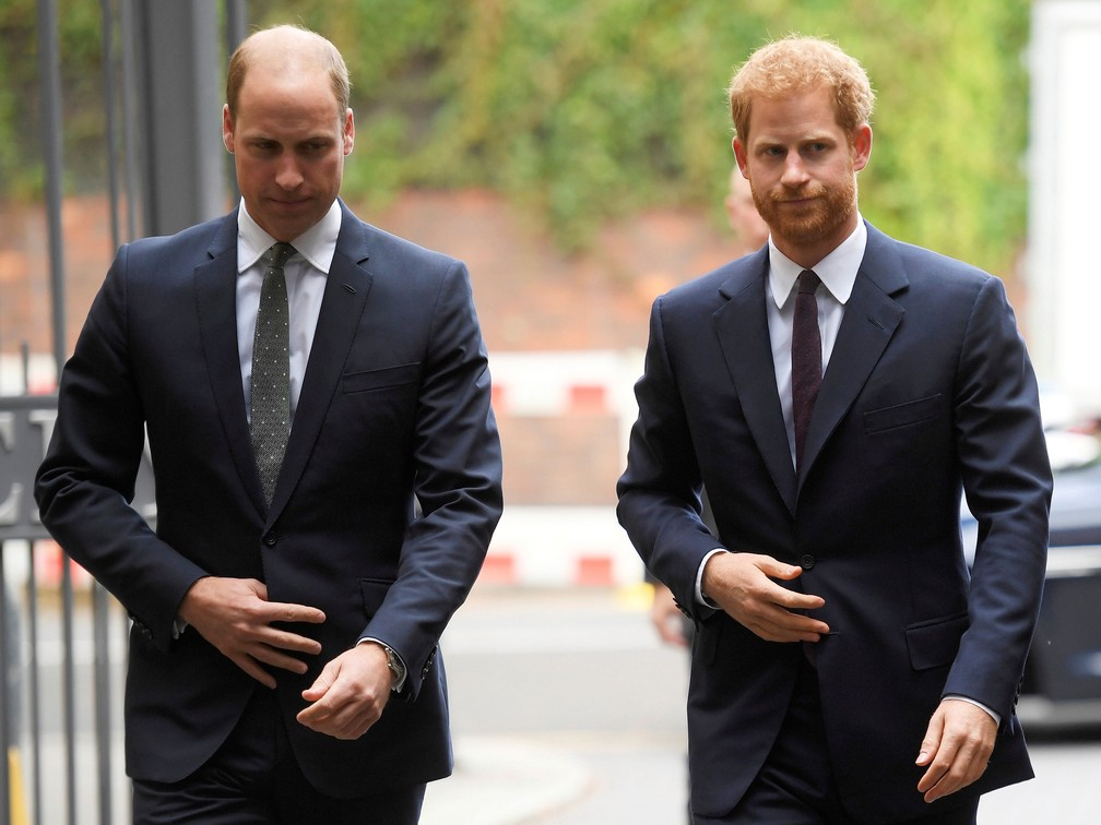 Príncipes William e Harry, em foto de 5 de setembro de 2017  — Foto: Toby Melville / AP