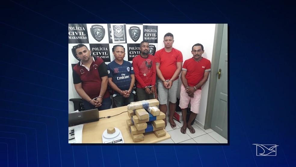 Presos serão investigados e devem responder por tráfico de drogas e associação criminosa  (Foto: Reprodução/ TV Mirante)