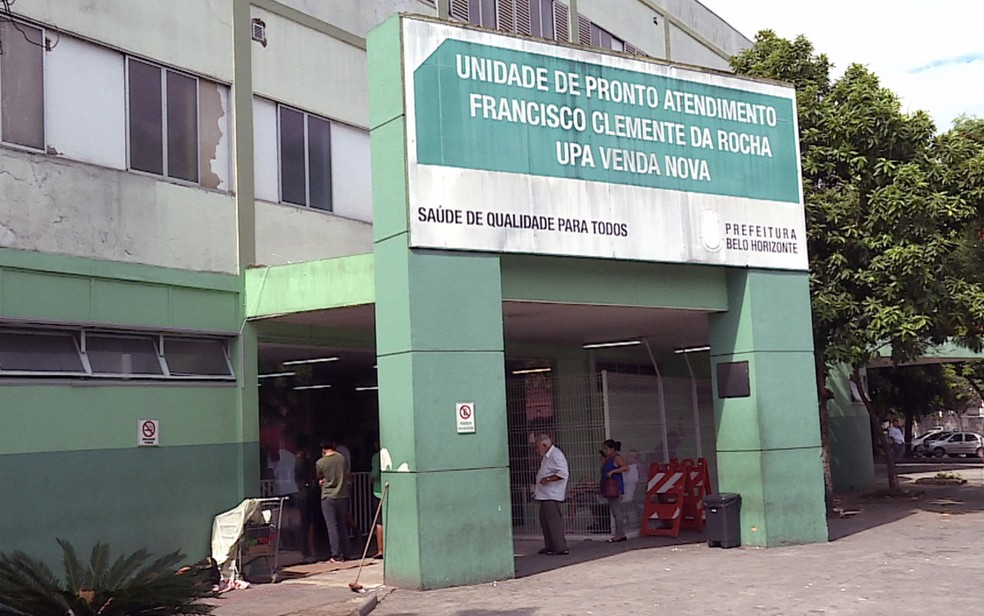 Criança foi levada à UPA Venda Nova, em Belo Horizonte, para atendimento médico — Foto: Reprodução / TV Globo