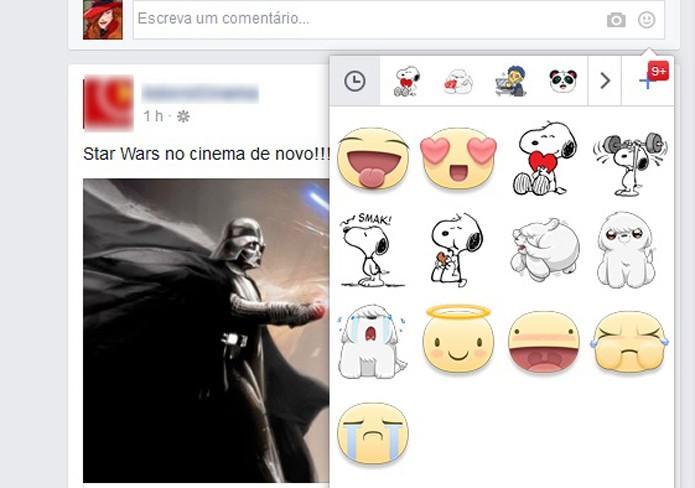 Facebook libera o uso de stickers nos comentários para iOS, Android e web (Foto: Reprodução/Barbara Mannara)