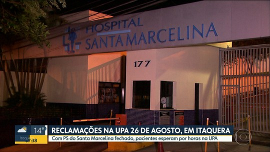 Hospital Santa Marcelina, na Zona Leste, limita atendimentos para pacientes do SUS
