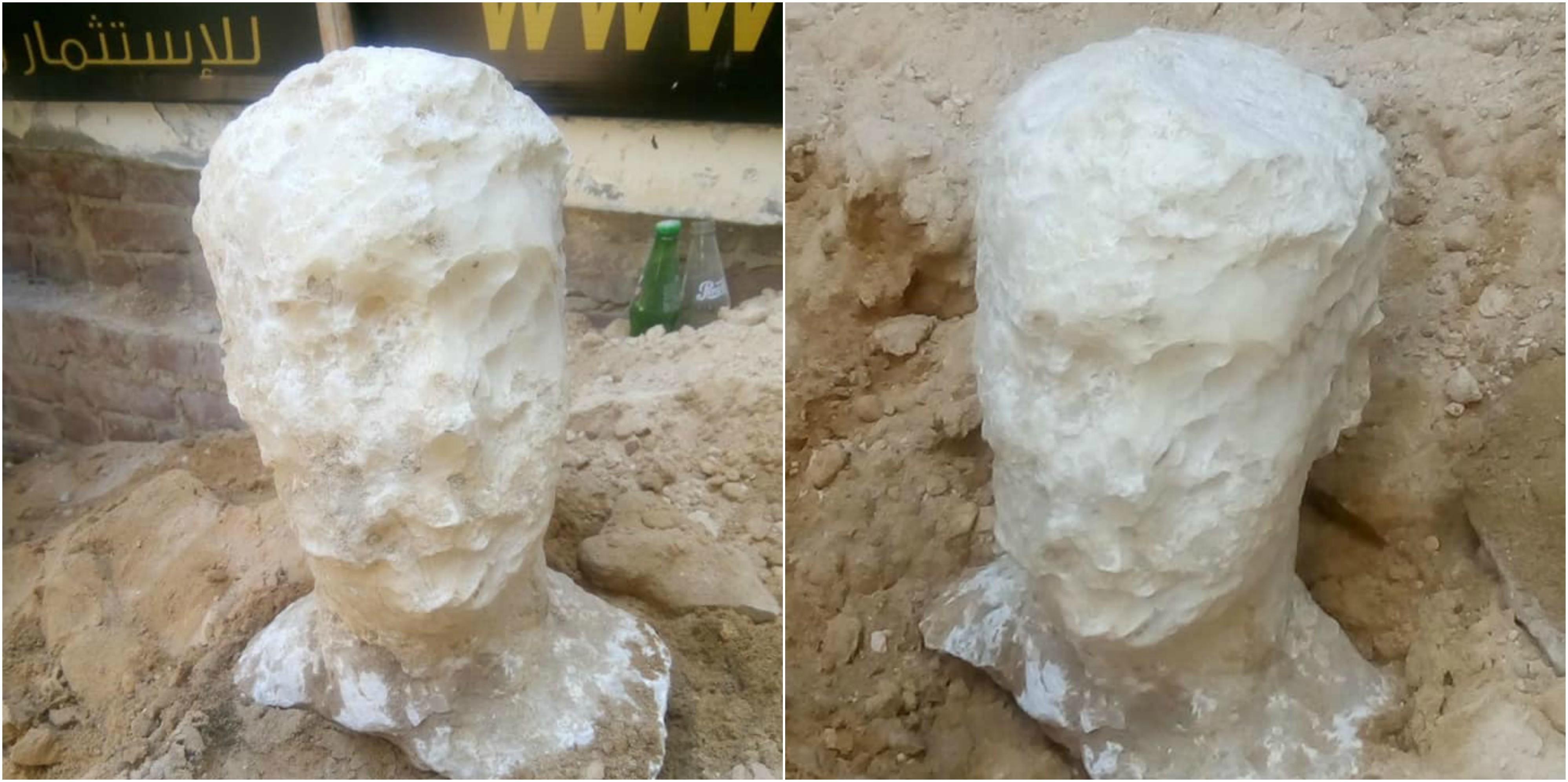 Esculturas que provavelmente pertenceram ao dono do sarcófago.  (Foto: Ministry of Antiquities)