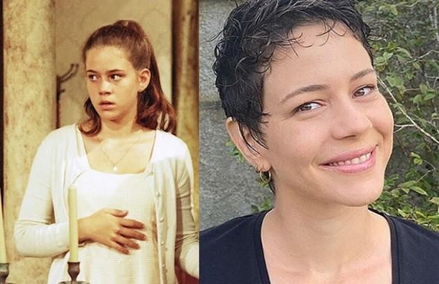 Aos 15 anos, Leandra Leal foi Lúcia Helena na fase jovem. Atualmente, ela está no elenco de 'Aruanas' e é uma das criadoras de 'A vida pela frente' (Foto: TV Globo / Reprodução)