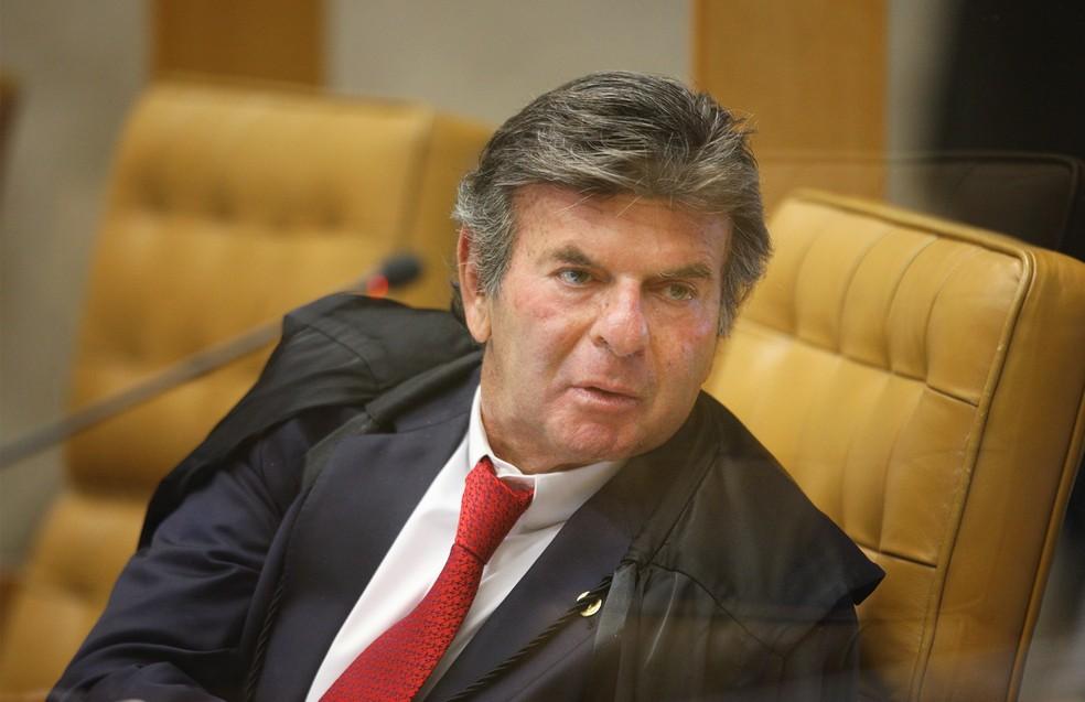 O ministro Luiz Fux em sessão do plenário do Supremo Tribunal Federal — Foto: Nelson Jr. / SCO / STF
