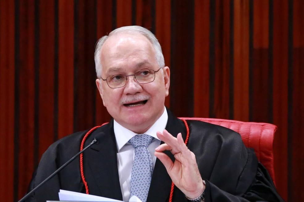 O ministro Edson Fachin durante sessão de julgamento no STF — Foto: Fátima Meira/Futura Press/Estadão Conteúdo