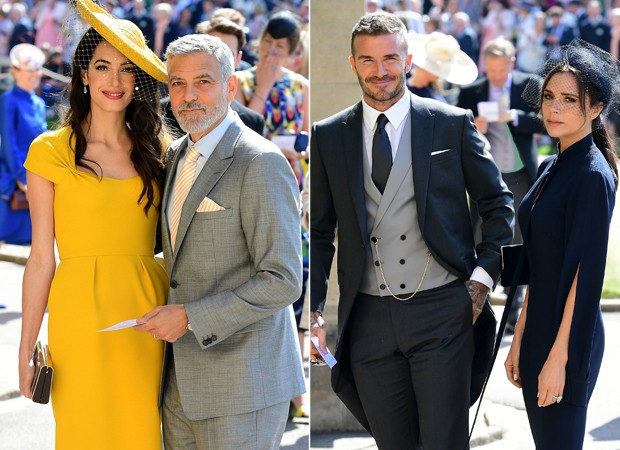 Amal, George Clooney e Victoria e David Beckham (Foto: Getty Images)