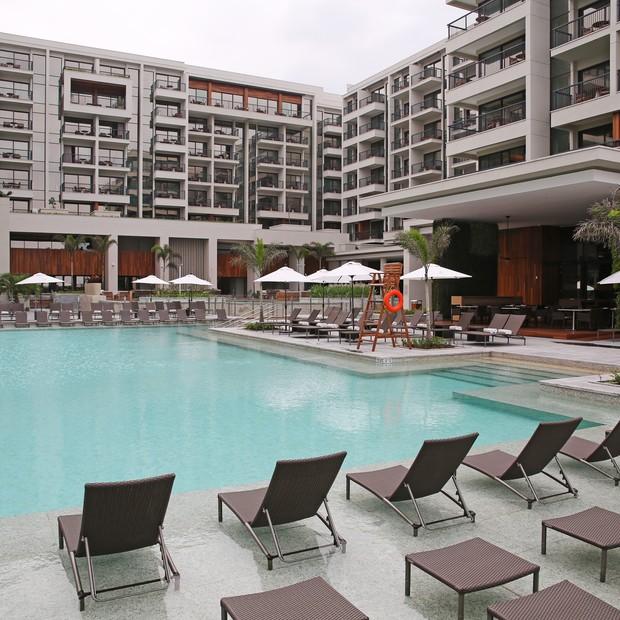 O complexo do hotel Grand Hyatt na Barra da Tijuca (Foto: Divulgação)