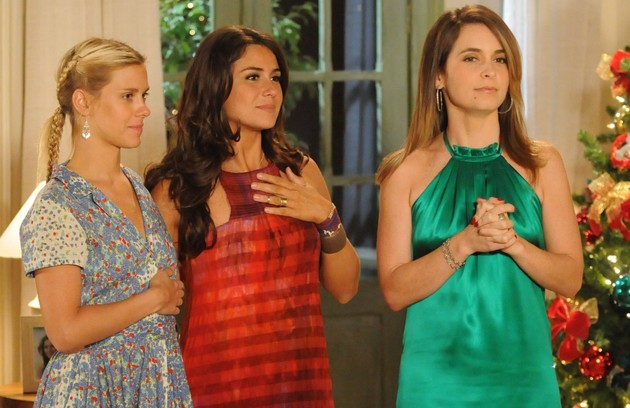 Ao lado de Carolina Dieckmann e Claudia Abreu na novela 'Três irmãs', exibida em 2008 (Foto: Frederico Rozario/TV Globo)