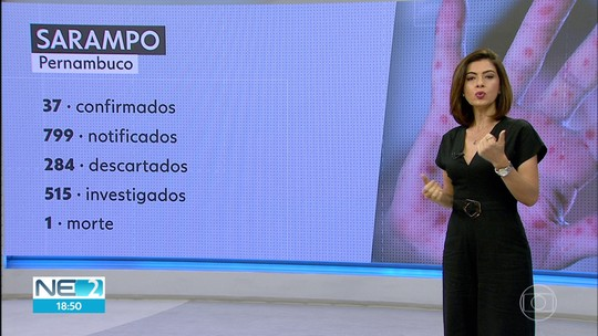 Casos confirmados de sarampo sobem para 37 em Pernambuco