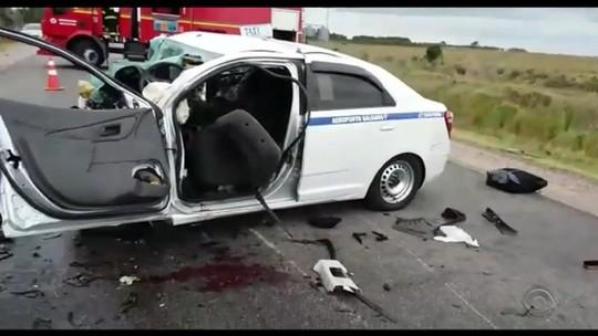 Feridos em acidente com sete mortes em Santa Vitória do Palmar seguem no hospital