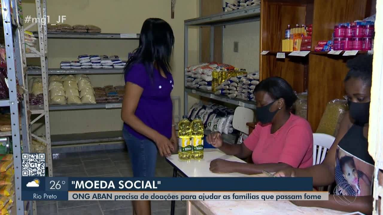 ONG em Juiz de Fora realiza projeto que ajuda famílias através de 'moeda social'