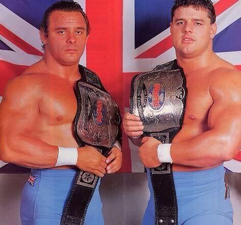 Os British Bulldogs, uma das mais famosas duplas de luta livre da história (Foto: Divulgação)