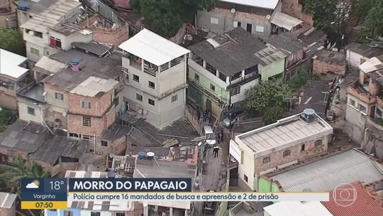 Polícia faz operação no Morro do Papagaio, na Região Centro-Sul de Belo Horizonte