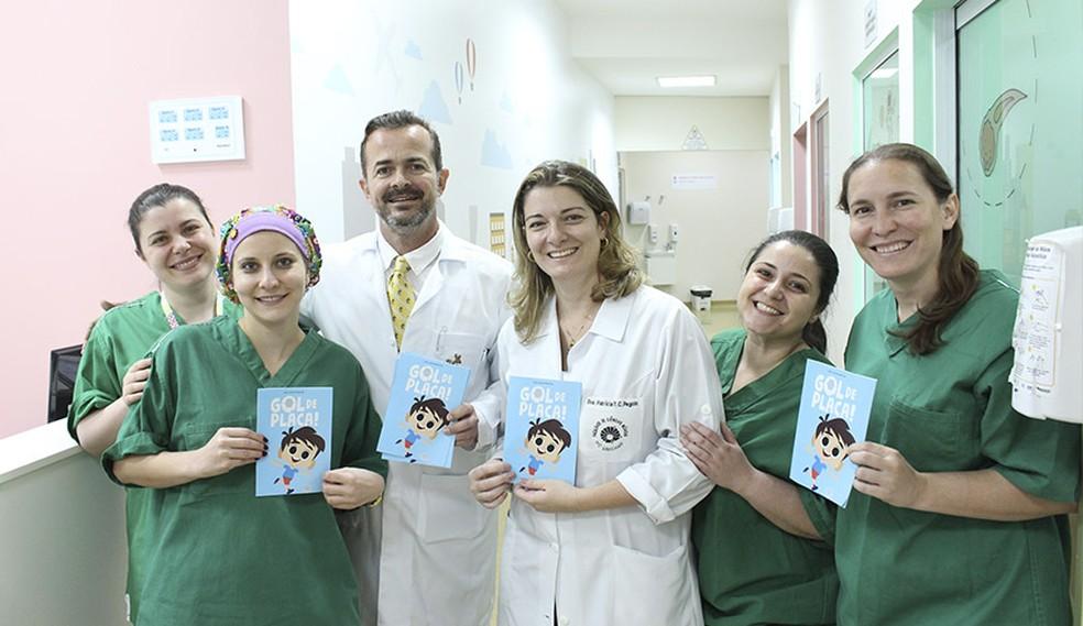 Gibi foi criado para acalmar pacientes em hospital de Jundiaí — Foto: Tribuna de Jundiaí/Divulgação