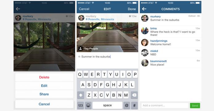 Instagram agora aceita edição de legendas (Foto: Divulgação)
