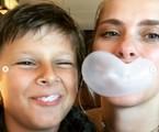 Carolina Dieckmann e o filho José   Reprodução Instagram