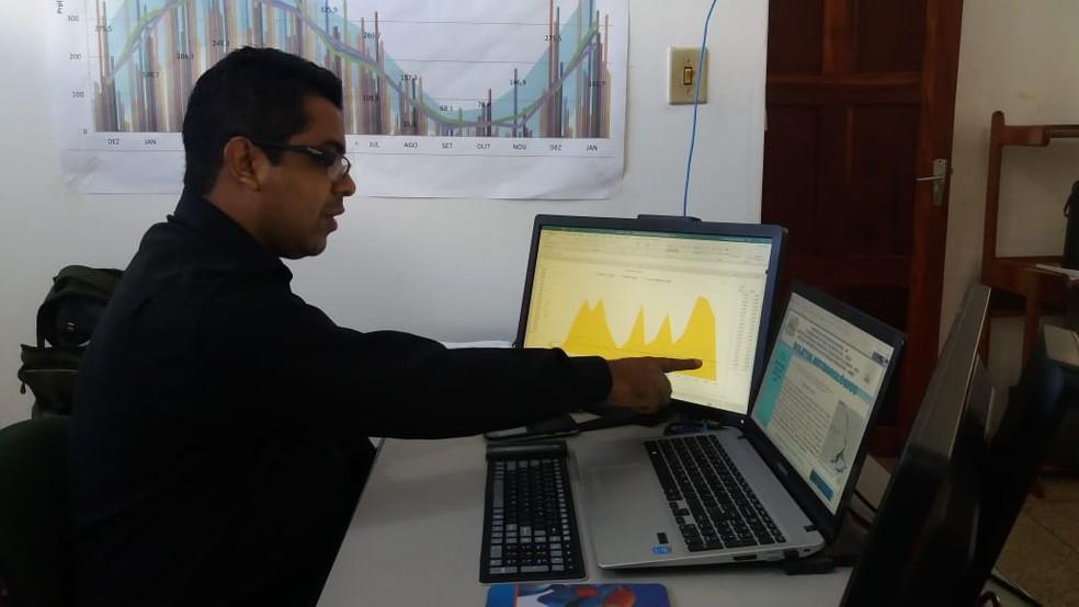 Jefferson Vilhena, meteorologista coordenador do NHMET — Foto: Carlos Alberto Jr/Arquivo G1