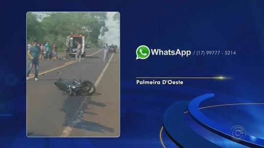Motociclista morre após batida frontal com carro em Palmeira D'Oeste