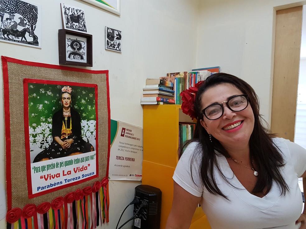 Tereza idolatra Frida Khalo — Foto: Ana Clara Puñal/Gshow